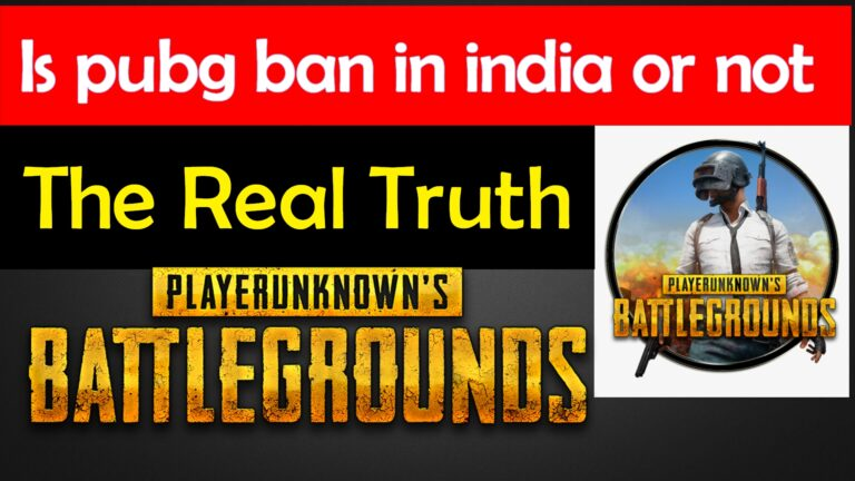 Why pubg is not banned in India | the real truth