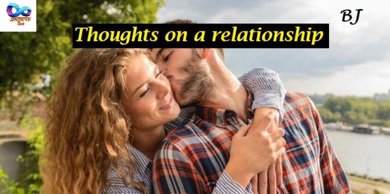 Thoughts on a relationship