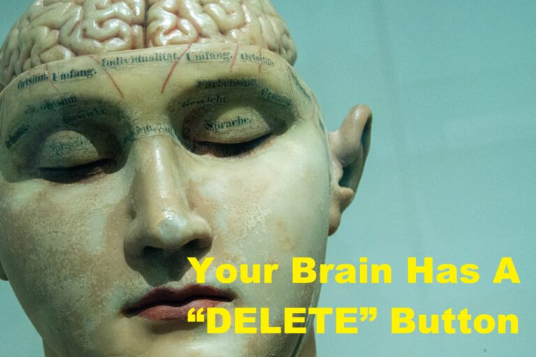 "Your Brain Has A ""DELETE"" Button How To Use It?"